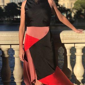 Dresses & Skirts - NWT Asymmetrical Hem Muti-Color Dress